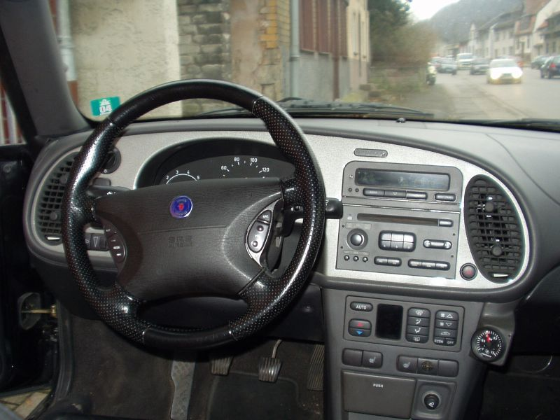 The Viggen dashboard has been replaced with a carbon fibre dashboard and  the door handles have been covered in carbon.